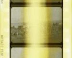 Image of film strip showing typical D1 fading.