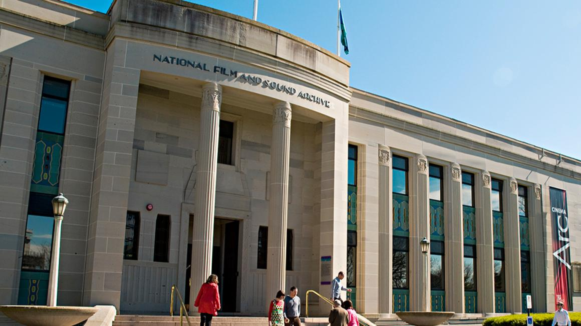 Front entrance to the National Film and Sound Archive building