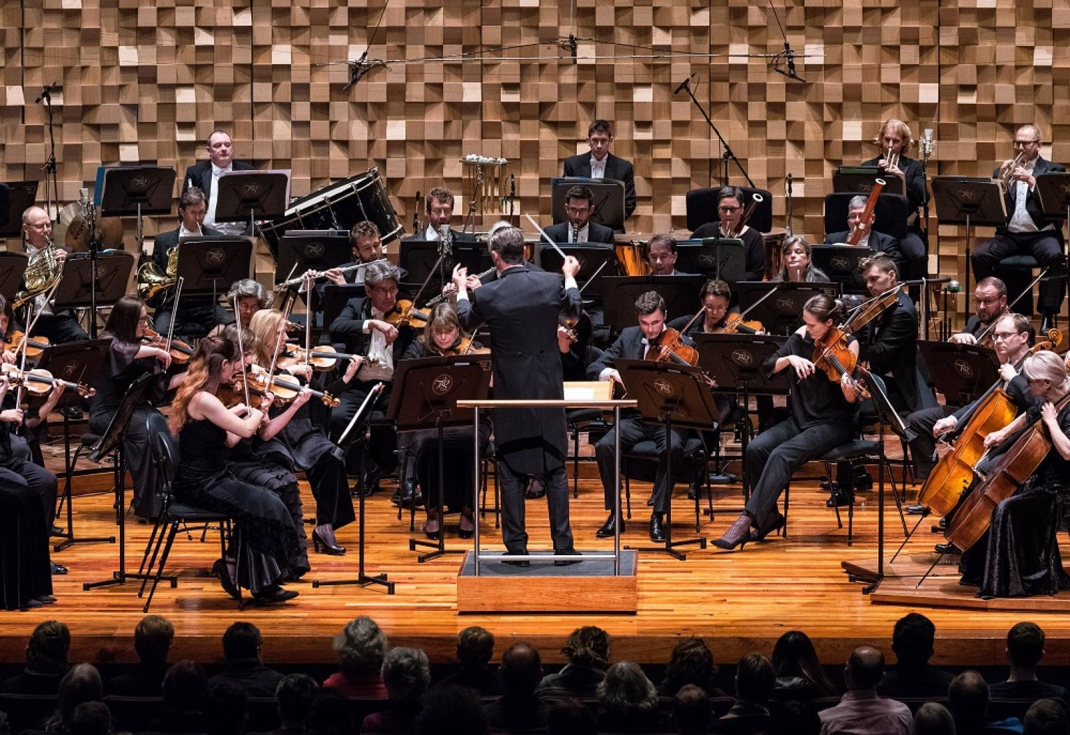 The Tasmanian Symphony Orchestra performing.