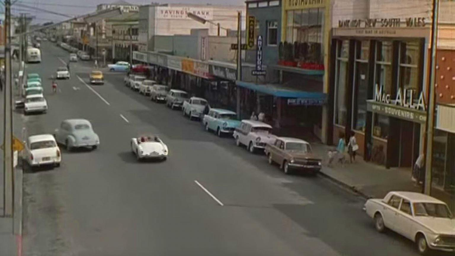 City street in Adelaide, circa 1960