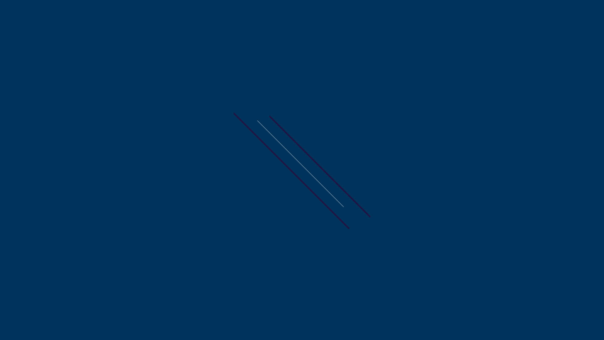 Graphic with three diagonal lines against a navy blue background.