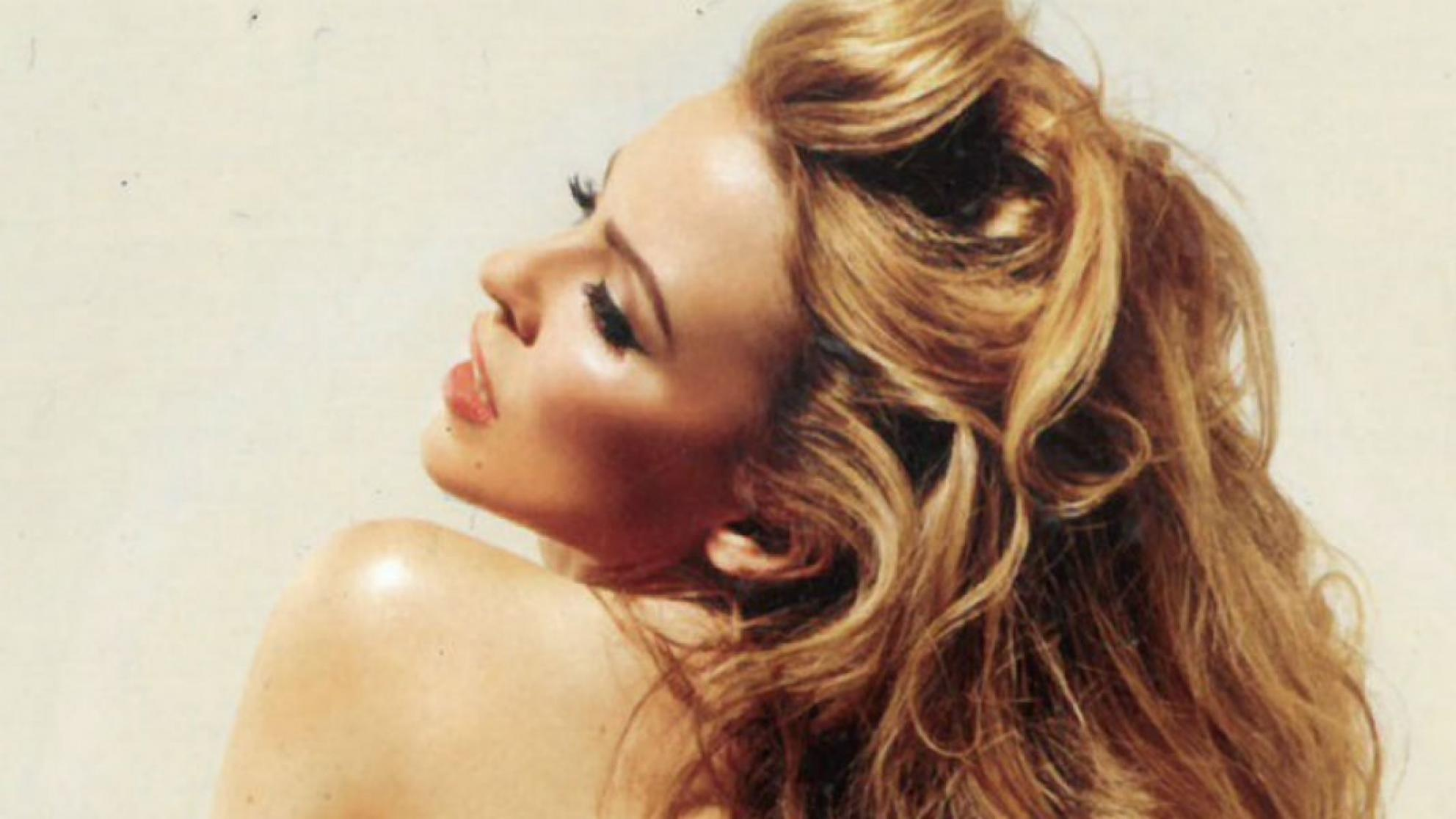 Cropped image of Kylie Minogue album cover Into the Blue
