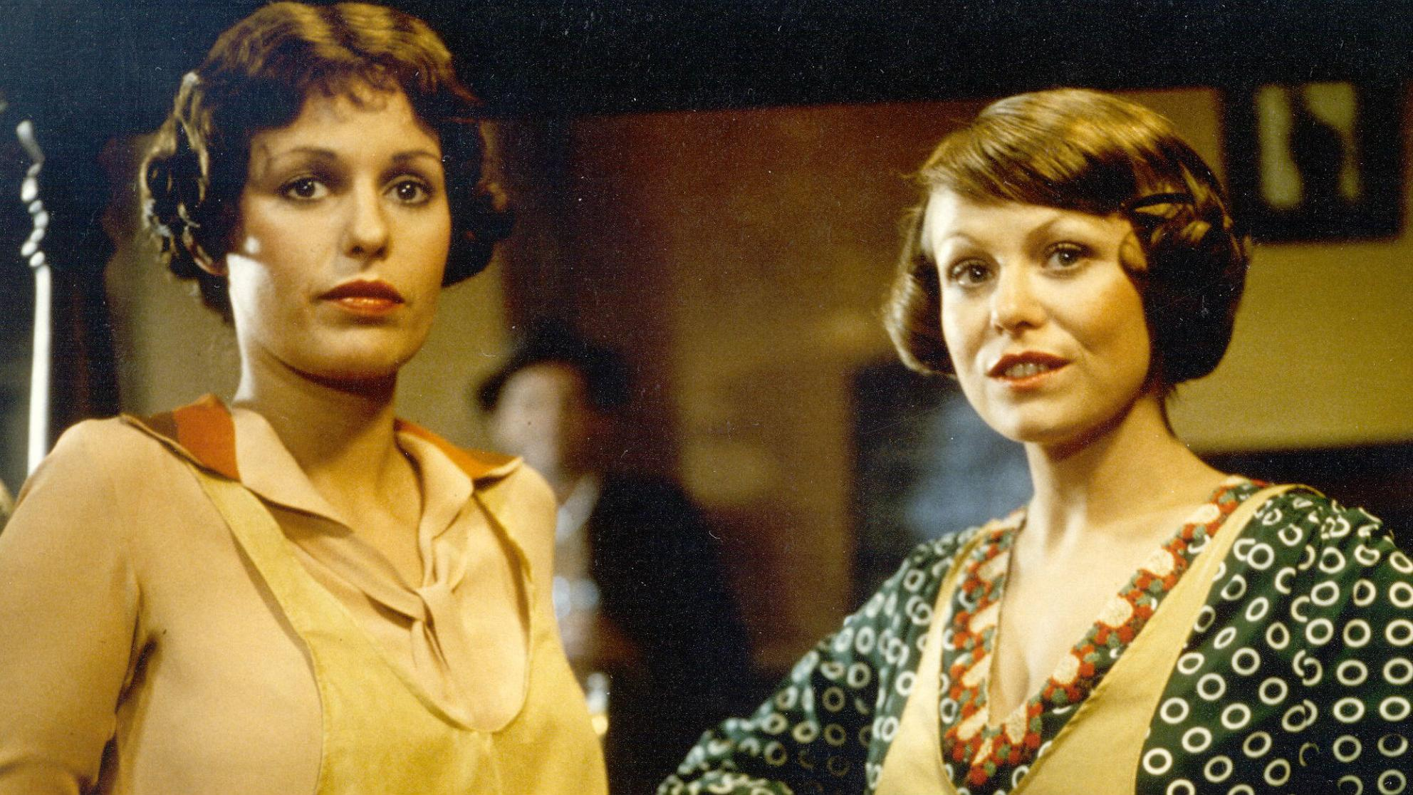 Helen Morse and Jacki Weaver in a scene from the film Caddie.