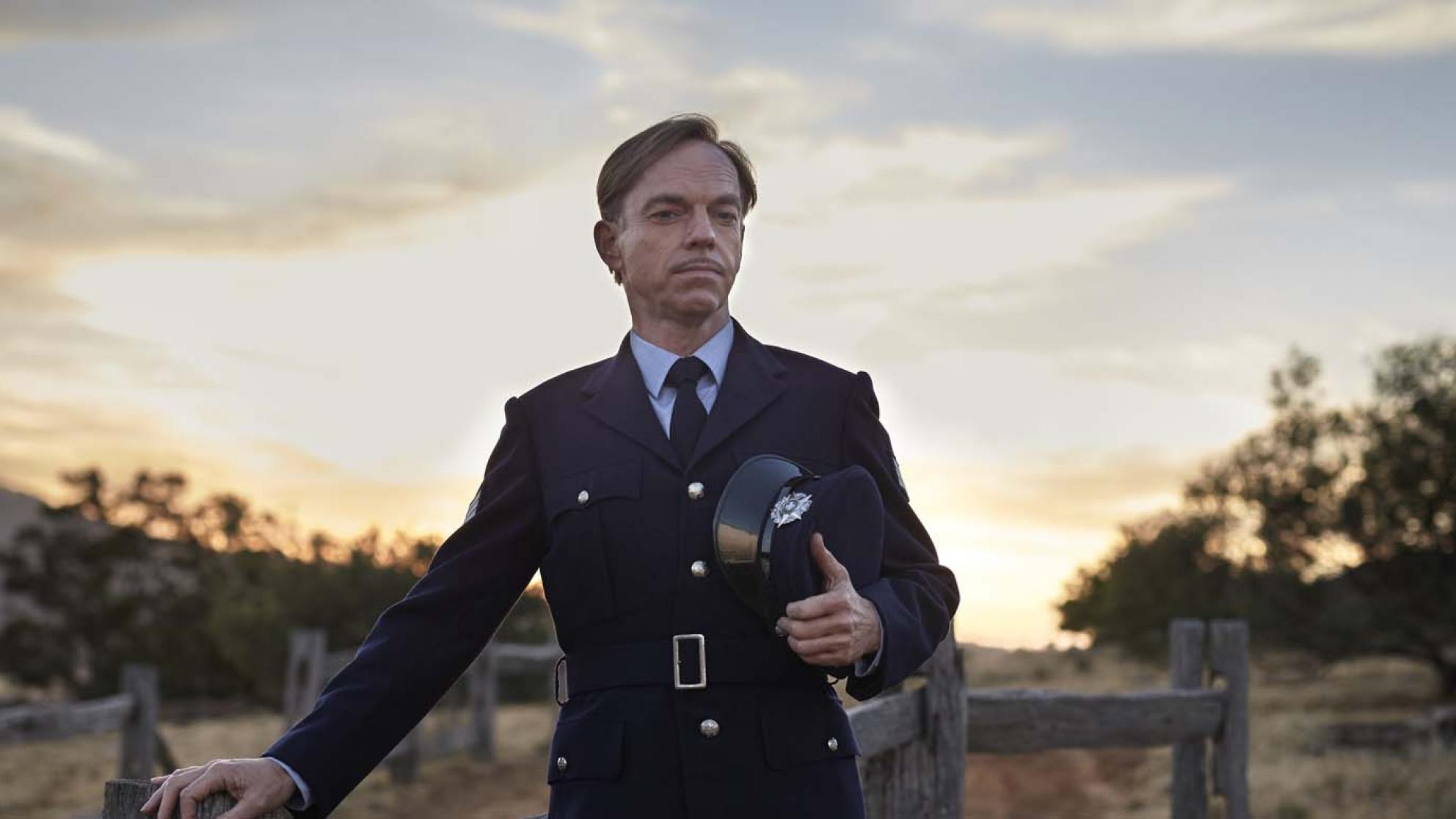 Hugo Weaving as a country town police officer in a still from the film The Dressmaker