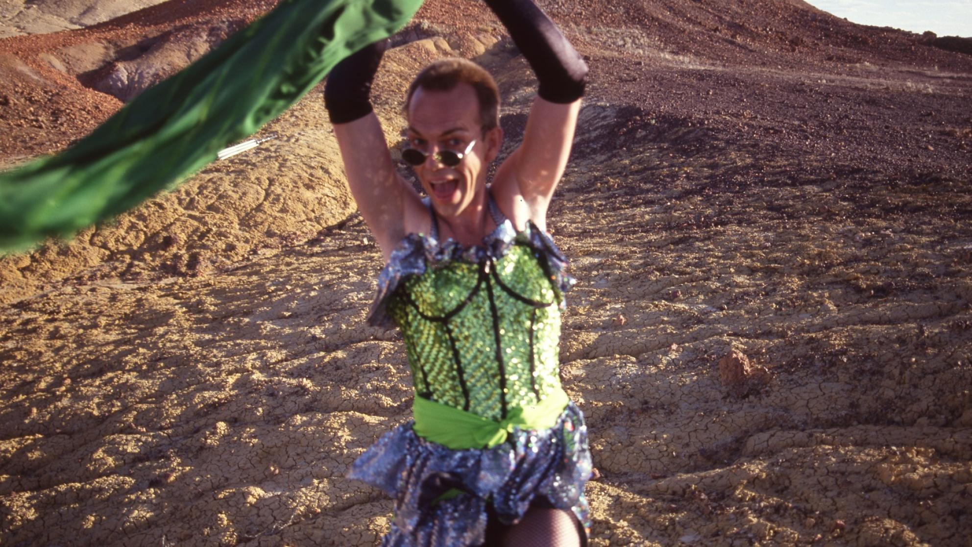 Hugo Weaving as Mitzi in Priscilla Queen of the Desert