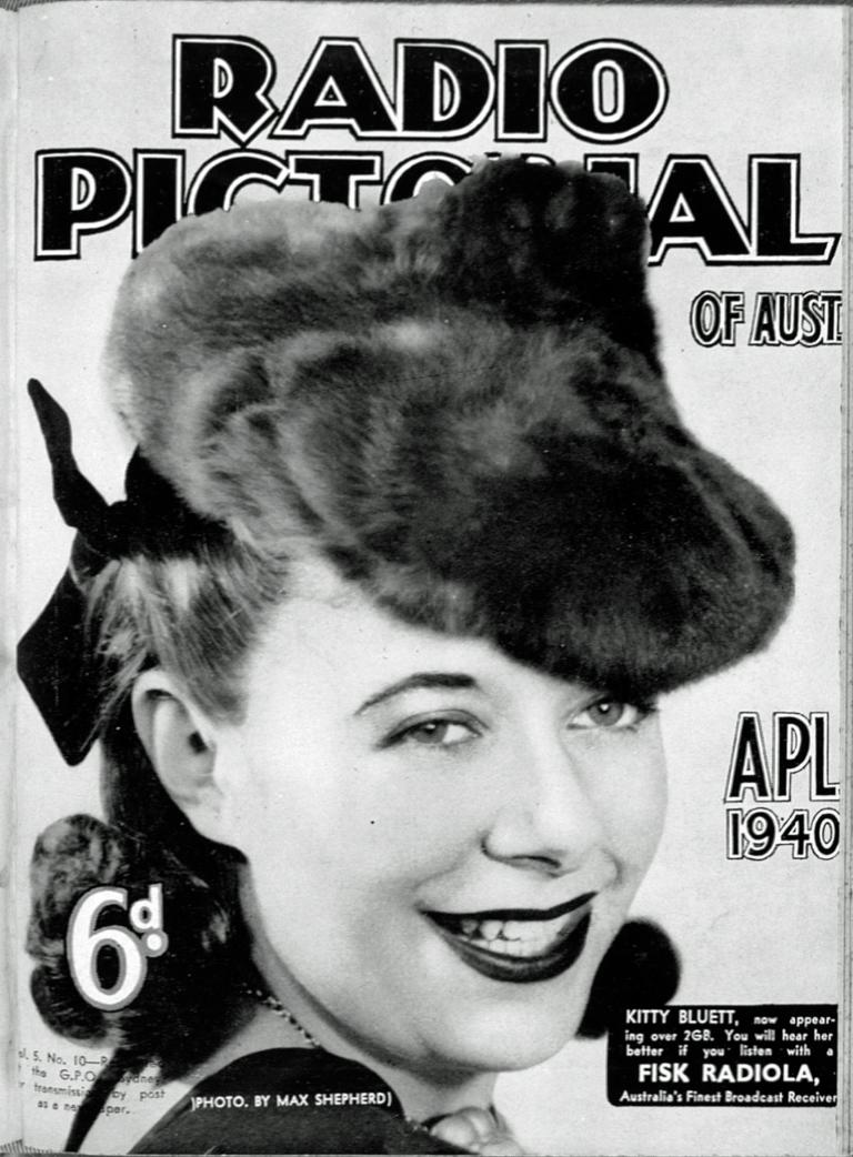 Cover of Radio Pictorial of Australia featuring Kitty Bluett